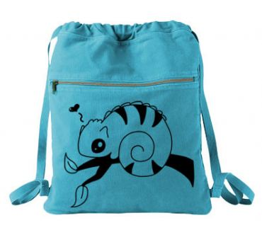 Chameleon in Love Cinch Backpack