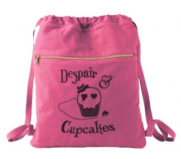 Despair and Cupcakes Cinch Backpack