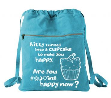 Kitty Turned into a Cupcake Cinch Backpack