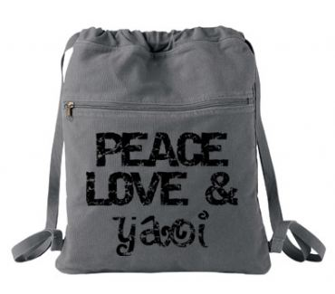 Peace Love & Yaoi Cinch Backpack
