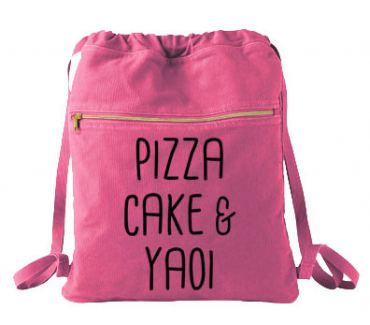 Pizza Cake & YAOI Cinch Backpack