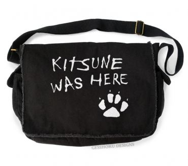 Kitsune Was Here Messenger Bag