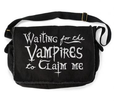 Waiting for the Vampires to Claim Me Messenger Bag