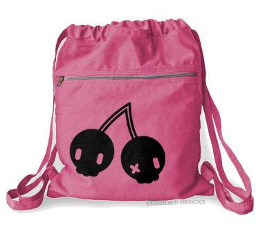Cherry Skulls Cinch Backpack