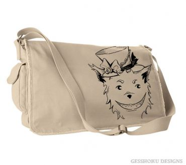 Big Bad Grinning Wolf Messenger Bag