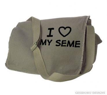 I Love my Seme Messenger Bag