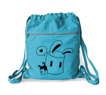 Marshmallow Bunnies Cinch Backpack