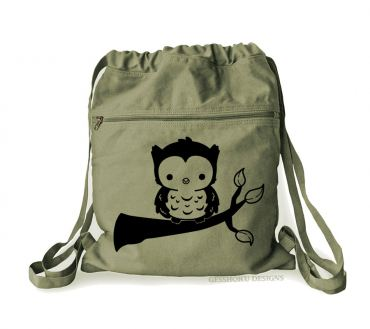 Fluffy Owl Cinch Backpack