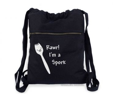 Rawr! I'm a Spork Cinch Backpack