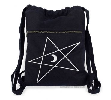 5-Pointed Moon Star Cinch Backpack
