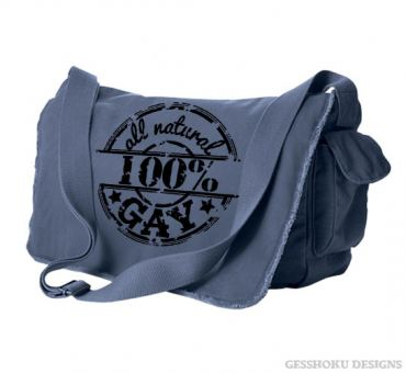 100% All Natural Gay Messenger Bag