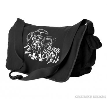 Akiko Has a Chainsaw Messenger Bag
