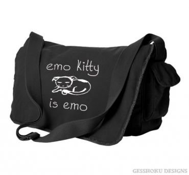 Emo Kitty Messenger Bag