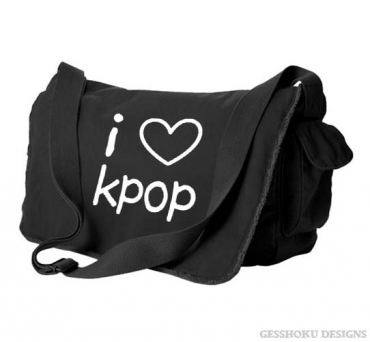 I Love Kpop Messenger Bag