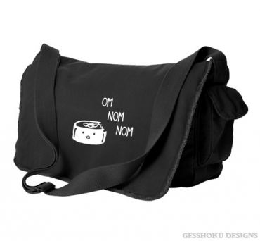 Om Nom Nom Sushi Messenger Bag