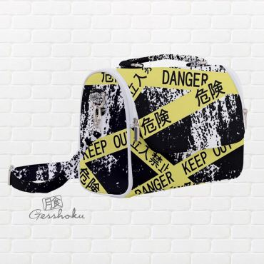 Caution Tape Aesthetic Satchel Shoulder Bag