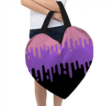 Pastel Slime Giant Heart Tote Bag