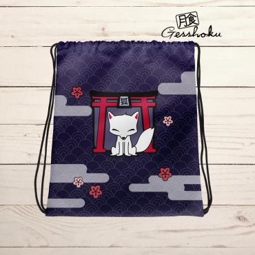 Kitsune Shrine Drawstring Bag