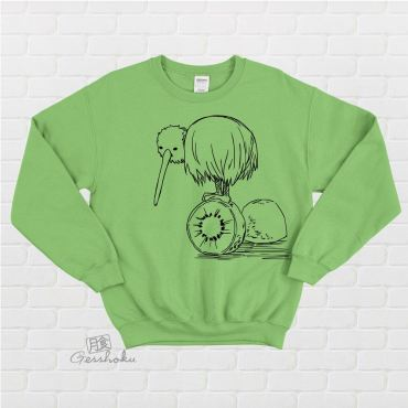 Fruity Kiwi Bird Crewneck Sweatshirt