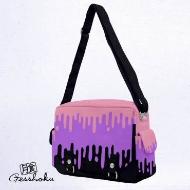 Pastel Slime Drips Full-Print Messenger Bag