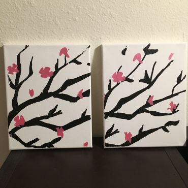 Sakura Blossoms Canvas Art