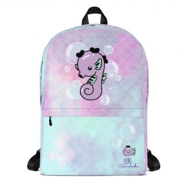 Kawaii Seahorse Classic Backpack with Laptop Sleeve