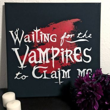 Waiting for the Vampires Canvas Art