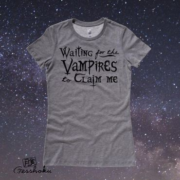 Waiting for the Vampires Ladies T-shirt