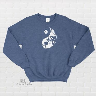 Asian Pattern Yin Yang Crewneck Sweatshirt