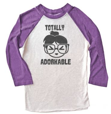 Totally Adorkable Raglan Long Sleeve T-shirt