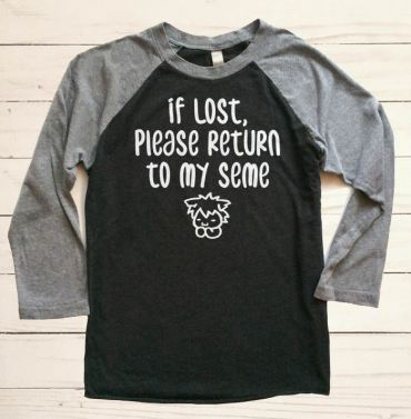 If Lost, Please Return to My Seme Raglan T-shirt