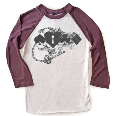 Key to My Heart Raglan T-shirt 3/4 Sleeve