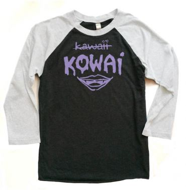 KOWAI not Kawaii Raglan T-shirt 3/4 Sleeve