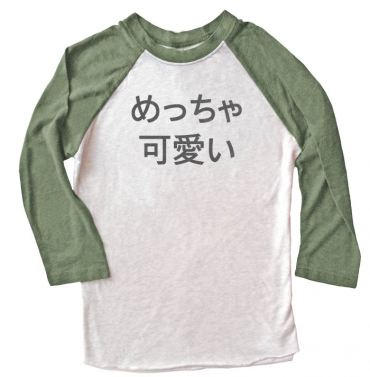 Meccha Kawaii Raglan T-shirt 3/4 Sleeve