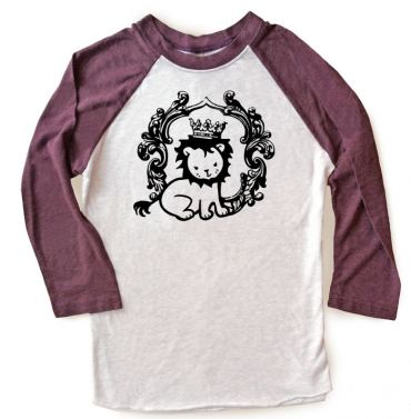 Royal Lion Prince Raglan T-shirt 3/4 Sleeve