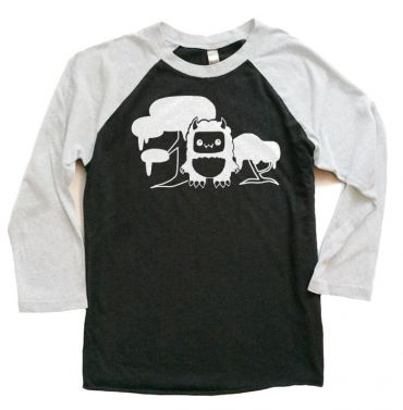 Tricky Yeti's Magical Forest Raglan T-shirt