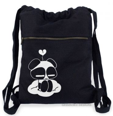Chibi Goth Panda Cinch Backpack
