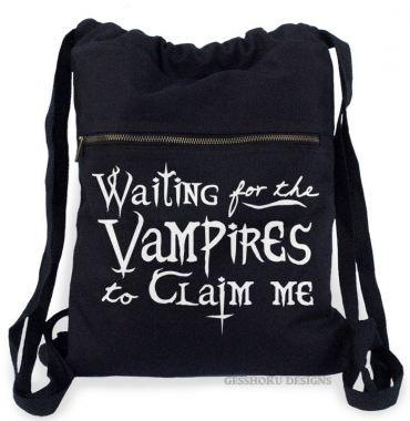 Waiting for the Vampires Cinch Backpack