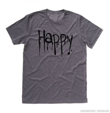 """Happy"" Dripping Text T-shirt"