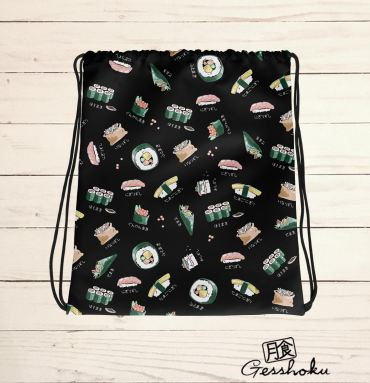Sushi Types Drawstring Bag