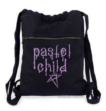 Pastel Child Cinch Backpack