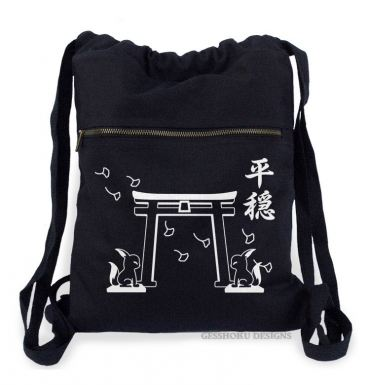 Tranquility Shrine Gate Cinch Backpack