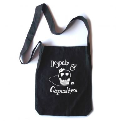 Despair and Cupcakes Crossbody Tote Bag
