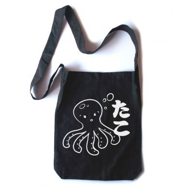 I Love TAKO Kawaii Octopus Crossbody Tote Bag