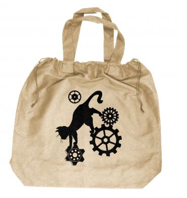 Steampunk Cat Extra-Large Drawstring Beach Bag