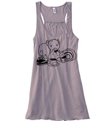 Squirrels and Sweets Flowy Tank Top