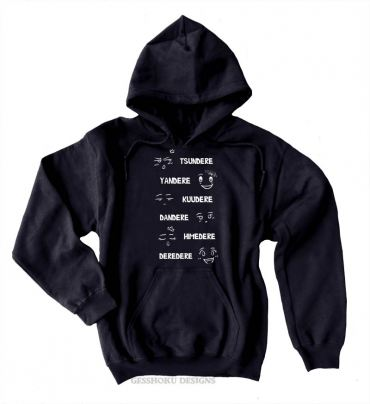 Dere Type Chart Pullover Hoodie