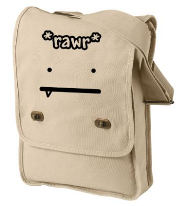 RAWR Face Field Bag