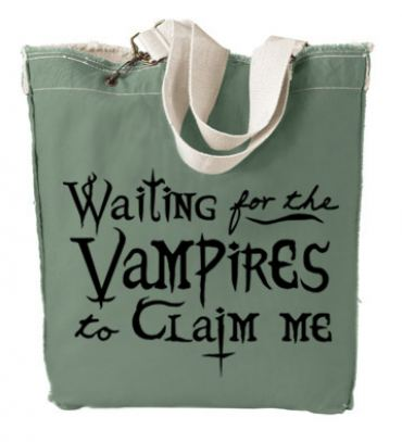 Waiting for the Vampires to Claim Me Designer Tote Bag