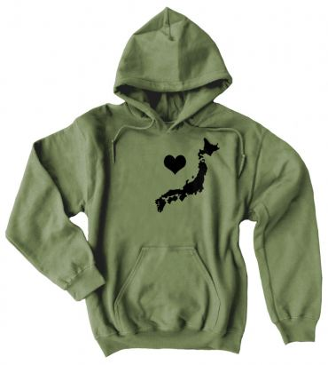 My Heart in Japan Pullover Hoodie